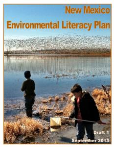 Cover of Environmental Literacy Plan Draft 1