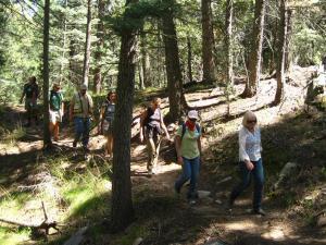 Hikers during PLT Workshop