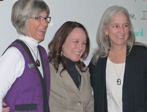 Colleen, Molly and Barbara at recognition ceremony