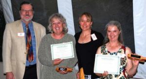 Donald Becker (Richard's Brother), Eileen Wood, Dana Vackar Strang, and Tish Morris at the award ceremony. Photo by Cheryl Riley.