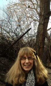 Judy Braus and a porcupine